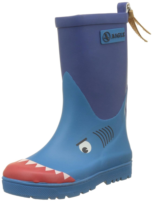 Aigle Woodypop, Botas de Lluvia para Niñas34 EU|Azul (Requin 001)
