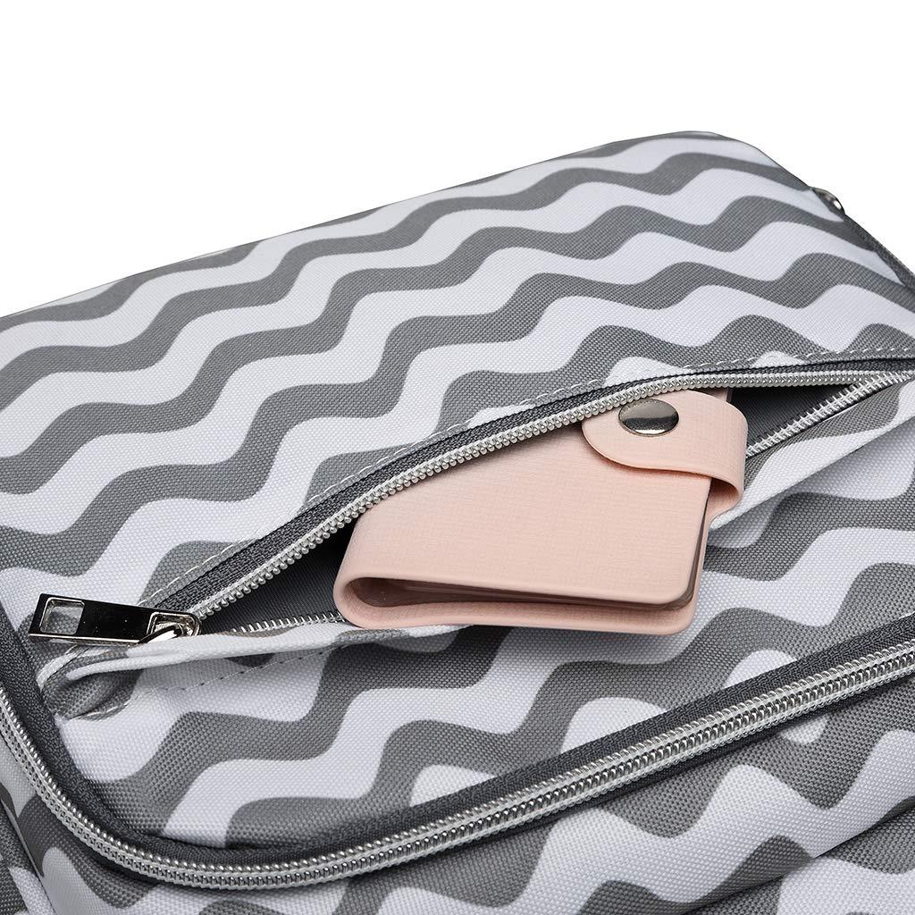 mochila casual para mam/á mujer bolsa para pa/ñales Ruda LEQUEEN Mochila de gran capacidad para el cuidado del beb/é