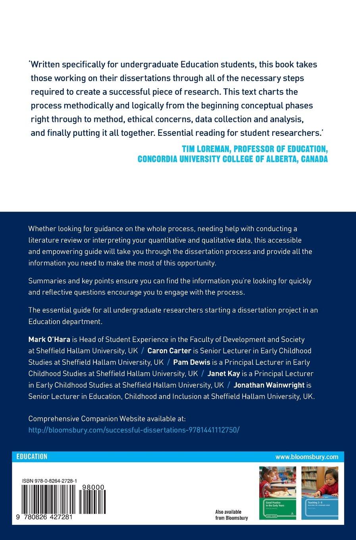 undergraduate dissertation examples in education