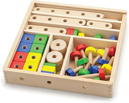 Amazon.com: VIGA Wooden 53 Piece Model Construction Set ...