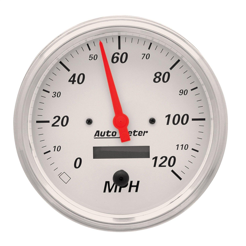 Auto Meter 1389 Arctic White Electric Programmable Speedometer