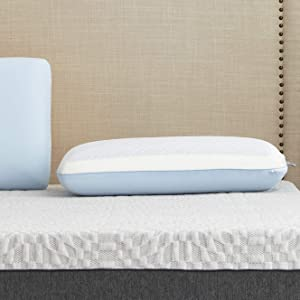Sealy DuoChill Cooling Memory Foam Pillow, Standard, White