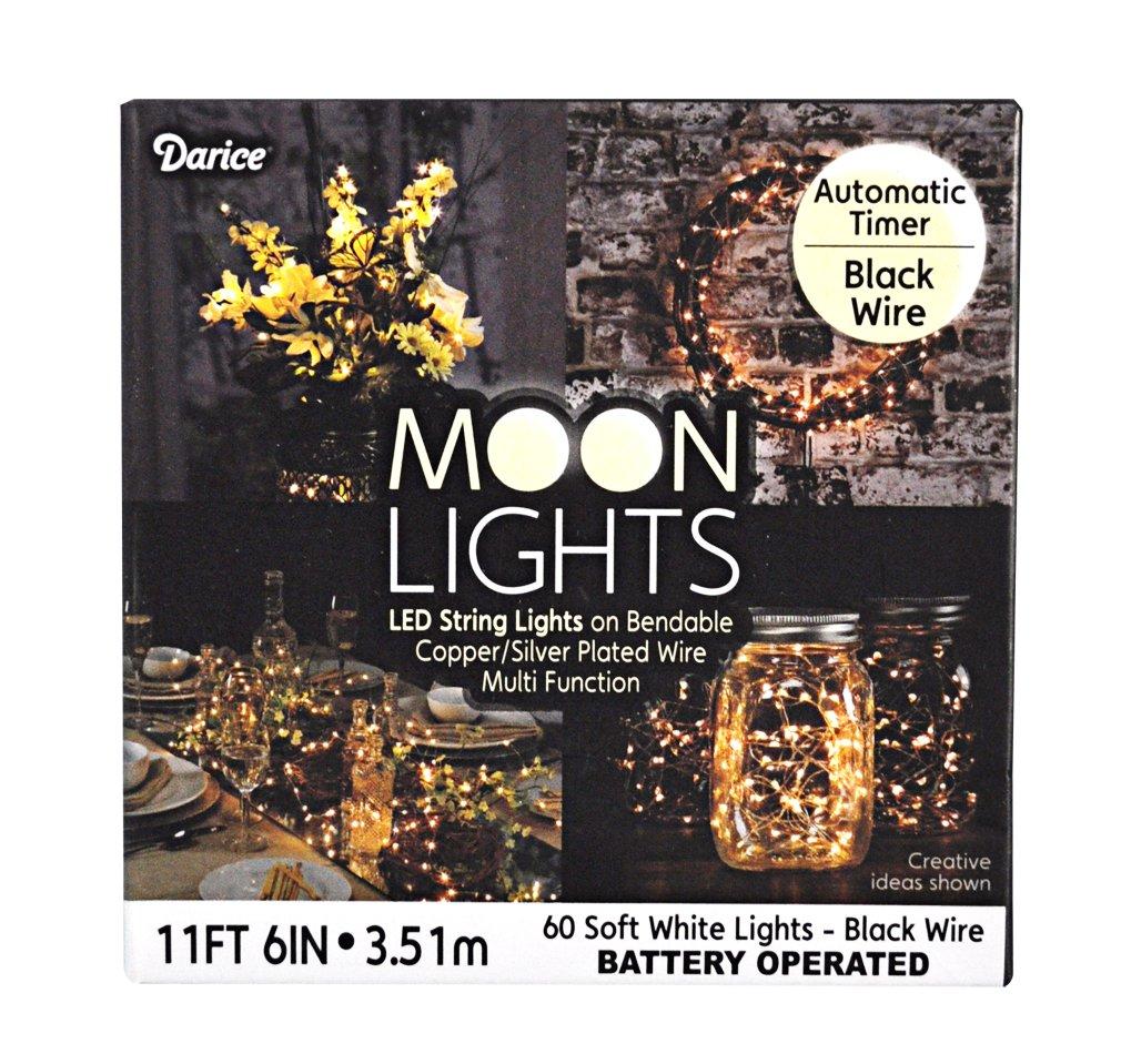 Amazon.com: Darice Moon-113 Moon Lites X60 S.White Timer Wire, Black ...