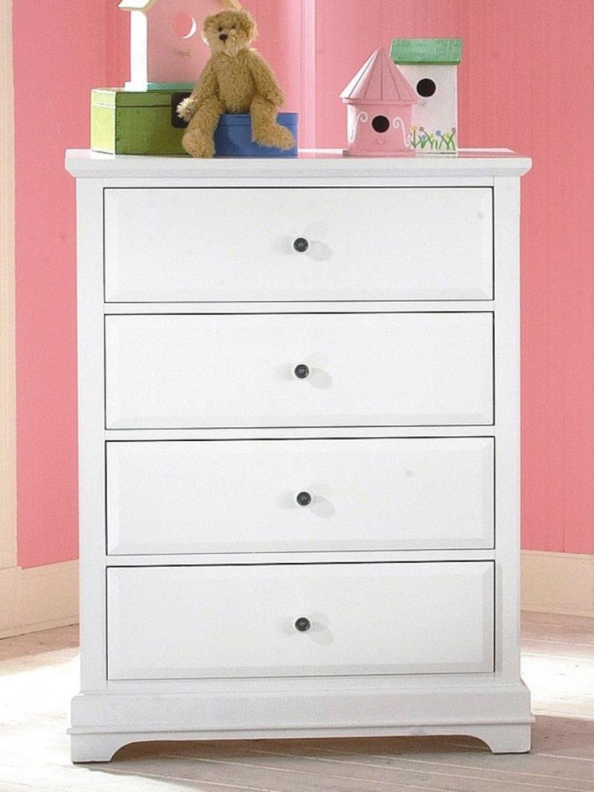 Beatrice Youth 4 Drawer Chest in White Finish