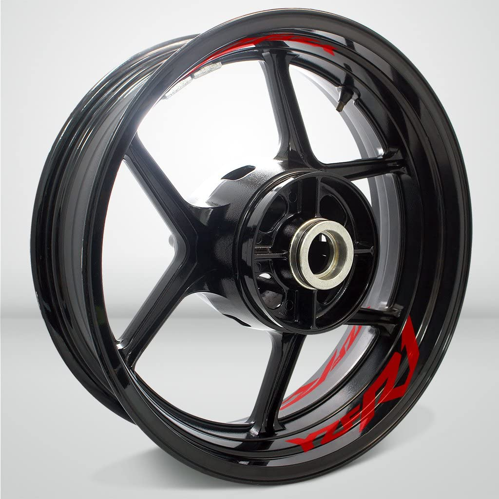 Yamaha YZF R1 Gloss Red Motorcycle Rim Wheel Decal Accessory Sticker Stickman vinyls