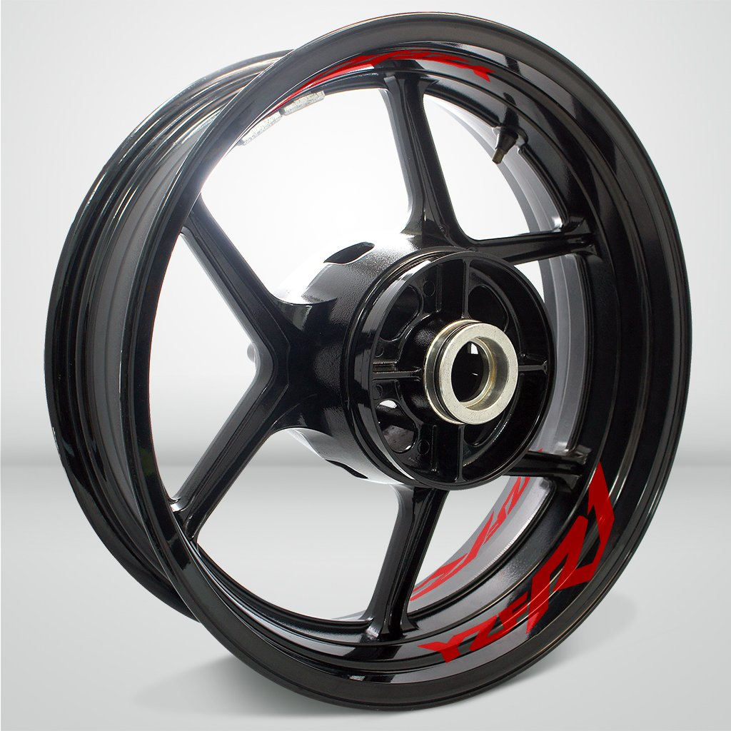 Reflective Red Motorcycle Inner Rim Tape Sticker Decal for Yamaha YZF R1