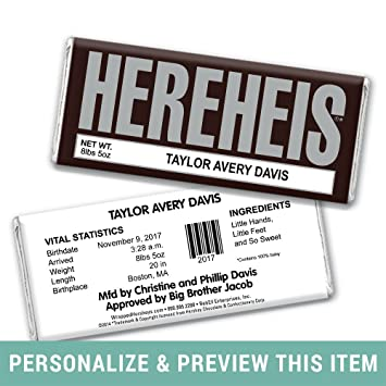 Amazon Com Classic Hereheis Baby Announcements Hershey S