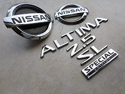 amazon com 06 nissan altima 2 5 sl front grille 62890 9j400 logoNissan Altima Emblems #21