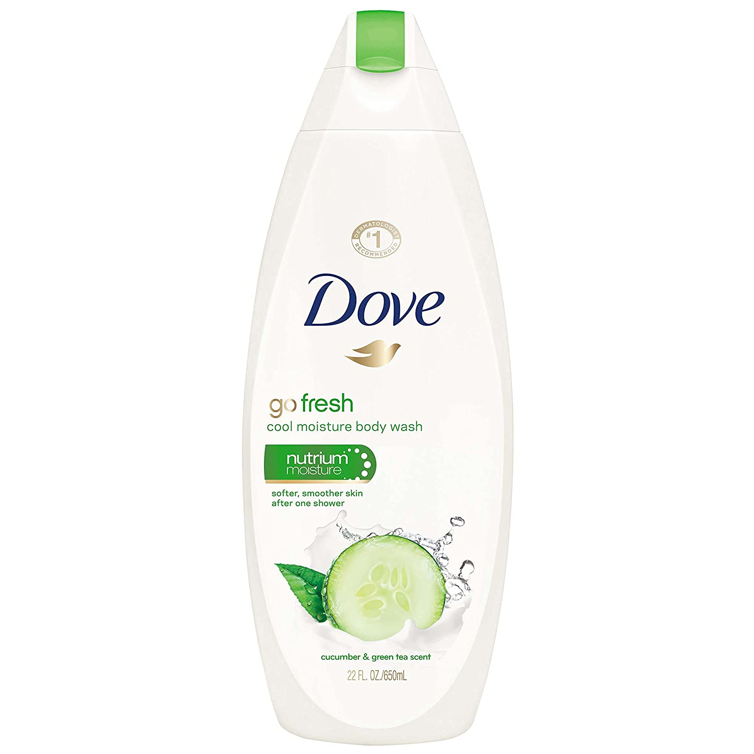 Dove go fresh Body Wash, Cucumber and Green Tea, 22 Fl Oz (1 Count)