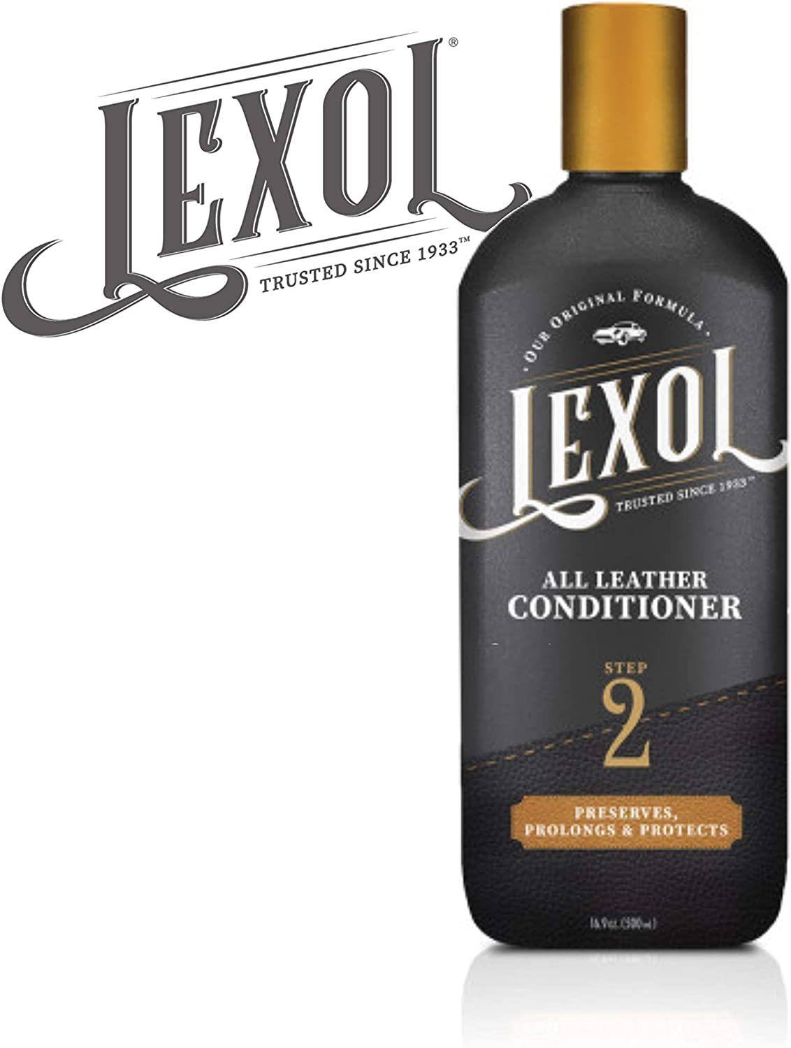 Lexol Leather Conditioner, 16.9 oz Best Cleaner and Conditioning Since 1933-For Use on Apparel, Furniture, Auto Interiors, Shoes, Bags and More