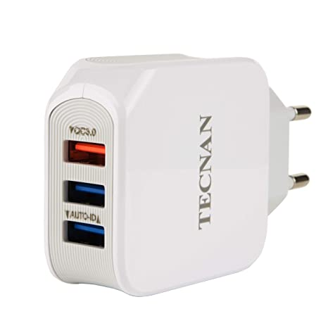 tecnan Quick Charge 3.0 Cargador 25 W Fuente de alimentación ...