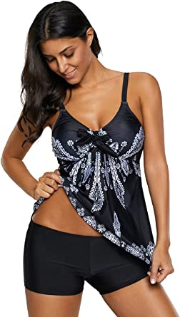 New Size 12//14 Gorgeous Padded Tankini Top with Tummy Support