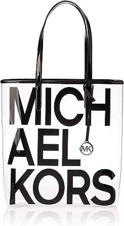 Michael Kors Tote Bag for Women- Clear/Black