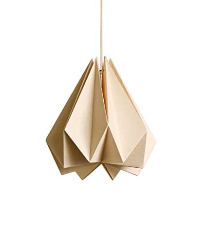 Brownfolds paper origami lamp shade vanilla bliss single pack light brownfolds paper origami lamp shade vanilla bliss single pack light peach aloadofball