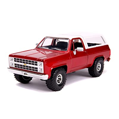 1980 Chevrolet Blazer K5 Off Road Metallic Red and White Just Trucks 1/24 Diecast Model Car by Jada 31594: Toys & Games