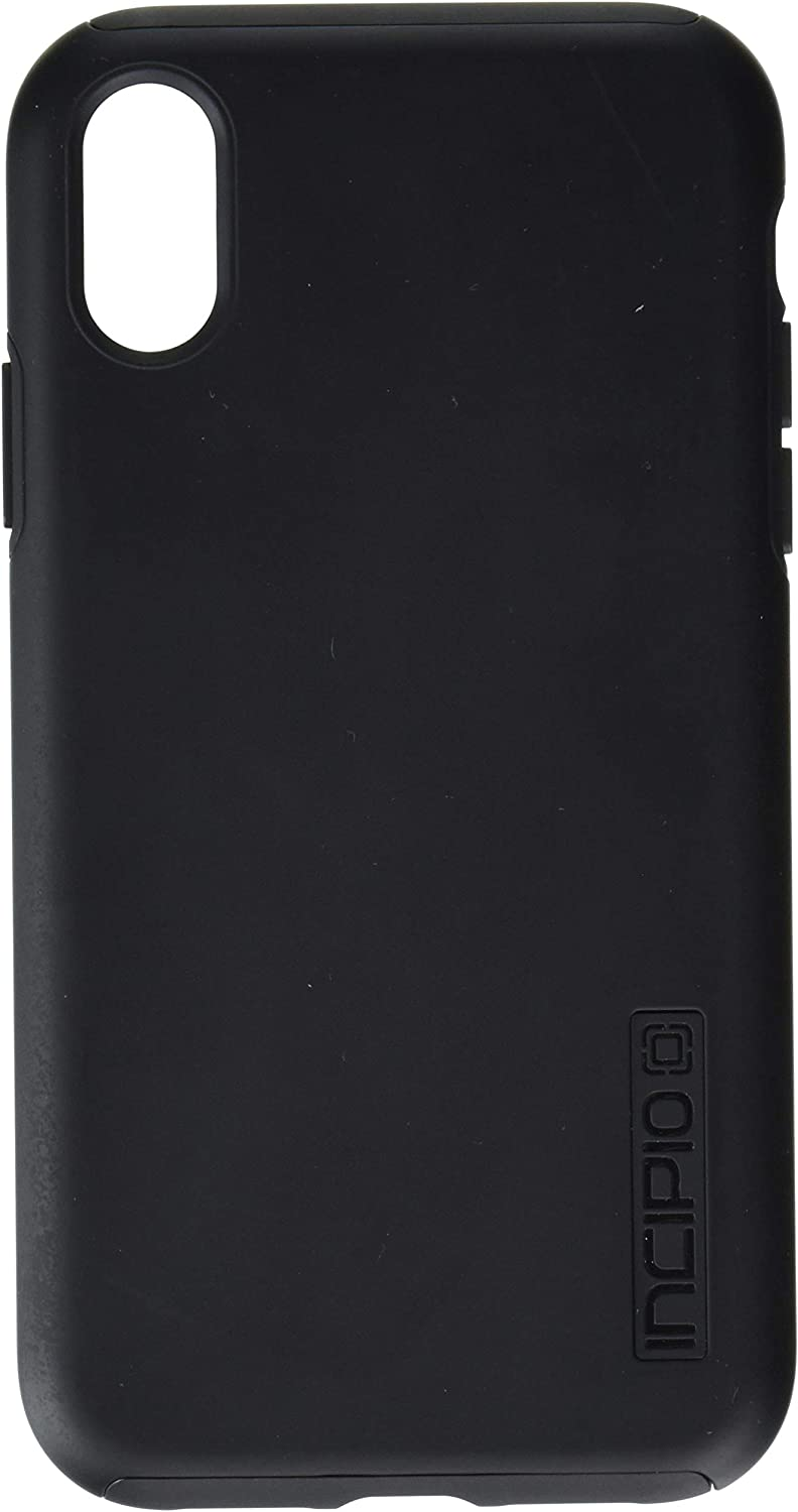 """Incipio DualPro Dual Layer Case for iPhone XR (6.1"""") with Hybrid Shock-Absorbing Drop Protection - Black"""