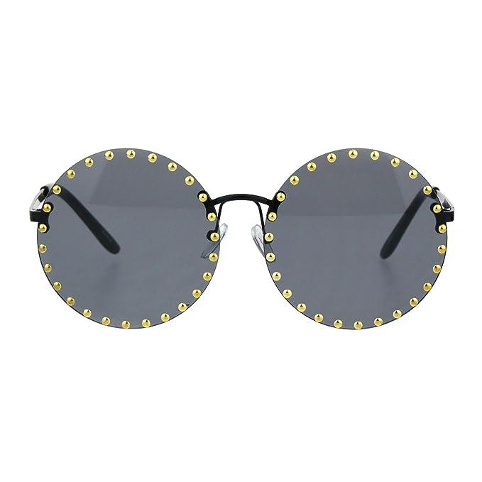 Amazon.com: Gafas de sol redondas con lentes circulares de ...
