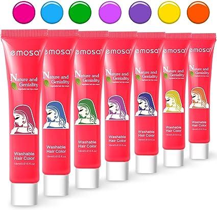 Amazon.com: Color de pelo lavable para niños, 7 tiza ...