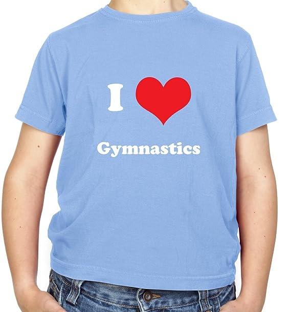 Dressdown I Love Gymnastics - per bambini ragazzi t-shirt - 8 colori - Età  3 - 14 anni Light Blue 13 anni  Amazon.it  Abbigliamento 527ef0f82ed5