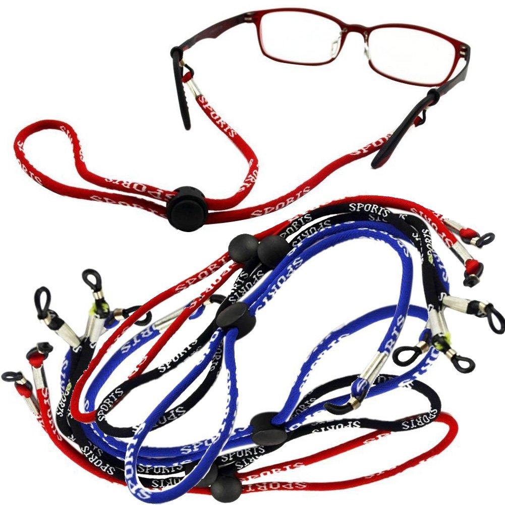 6 X Sports Sunglasses Neck Straps Lanyard Holder 2 pcs of Each Color (Black B... glasses-sports-rope
