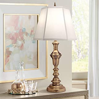 product image for Stiffel TL-A589-A792-AB One Light Table Lamp, Antique Brass Finish with Ivory Shadow Shade