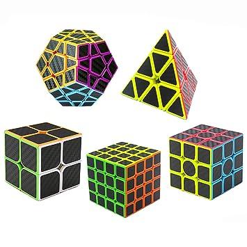 2er Set Magic Cube Zauberwürfel 2x2 3x3 Spielwürfel Puzzle Zauberartikel & -tricks