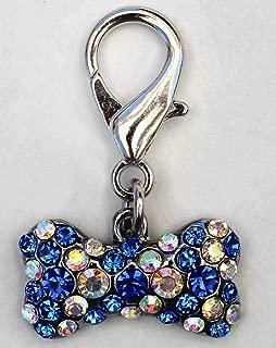 product image for Diva-Dog Blue Crystal Viva Las Vegas Dog Collar Charm or Keychain