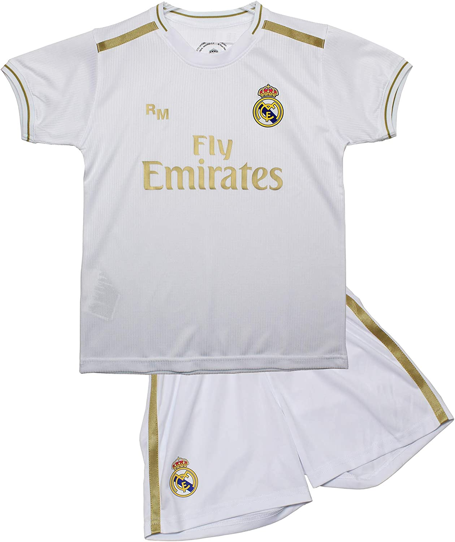 Champion's City Kit - Personalizable - Camiseta y Pantalón Infantil Primera Equipación - Real Madrid - Réplica Autorizada