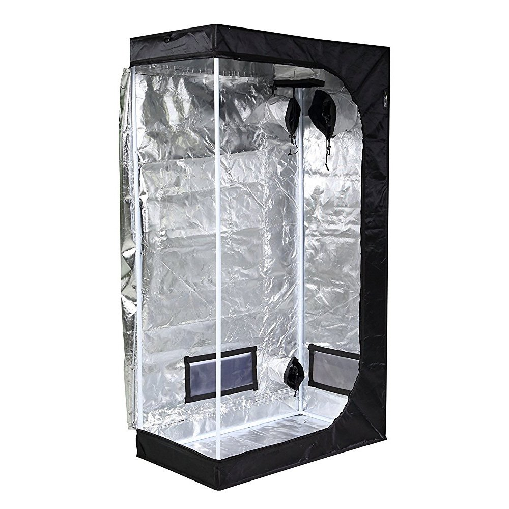 "iPower-- Water-Resistant Grow Tent w/ Removable Floor Tray (36""x20""x62"")"
