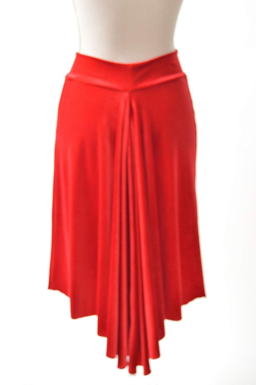 Elegante falda de tango de terciopelo rojo con cola de pez/Luce ...