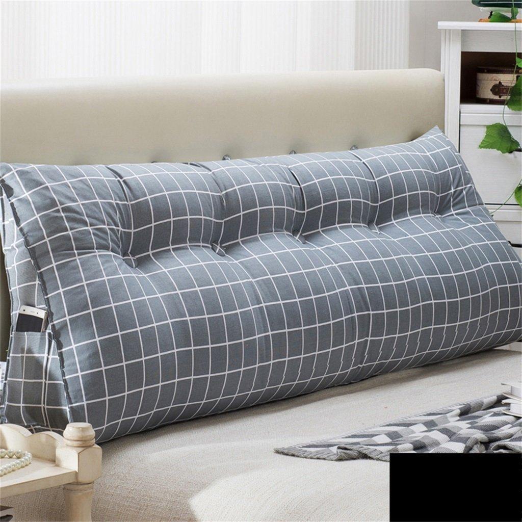 Kissen Dreieckskissen- Bettseite Soft Case Doppelt Dreieck Bett Große Rückenlehne Abnehmbar (Farbe   G, größe   120  22  50cm)