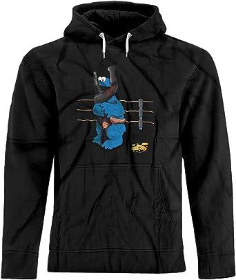 ebcaeb478f4 BSW Men s Cookie Monster Undertaker WWE Tombstone Premium Hoodie XS Black