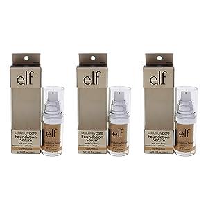 Beautifully Bare Foundation Serum SPF 25 - Light-Medium by e.l.f. for Women - 0.47 oz Foundation - (Pack of 3)