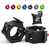 """New Year Deal - RitFit 2"""" Olympic Barbell Collars (Pair) - Solid Nylon Locking Clamps with Quick Release Secure Snap Latch - Great for CrossFit, OHP, Squats, Deadlifts, Cleans, Snatches"""