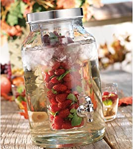 Home Essentials & Beyond Del Sol 1.5 gallon Infuser Beverage Dispenser, Clear