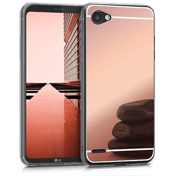 Cas Carbone De Silicone D'or Rosé Pour Le Lg Q6 ni1nLruF9I