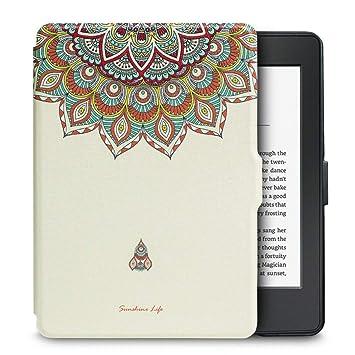DATOUDATOU La luz Original PU Caso Kindle Paperwhite 1 2 3 ...