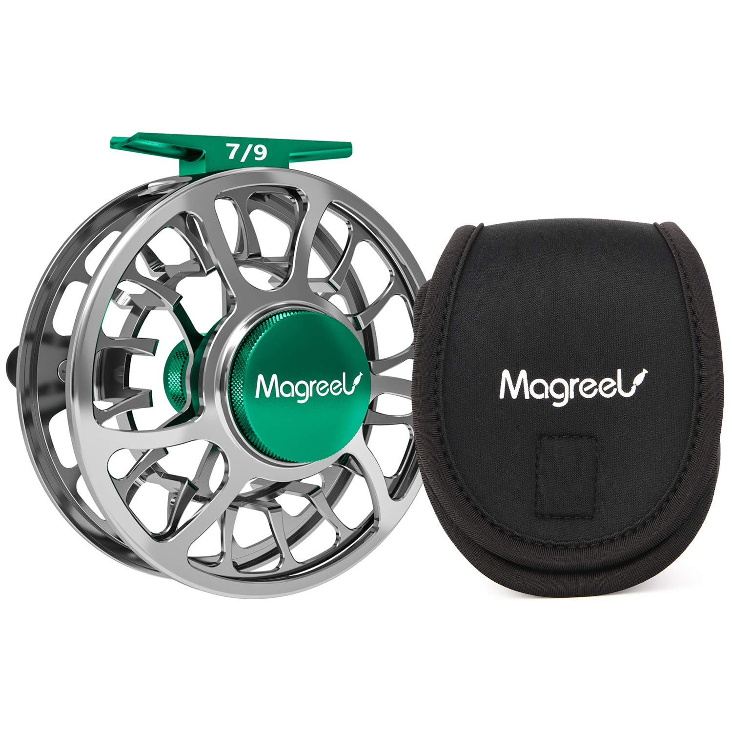 Magreel Fly Reel Fly Fishing Reel with CNC-Machined Aluminum Alloy Body 3 4, 5 6, 7 9 Weights – Gunmetal, Blue