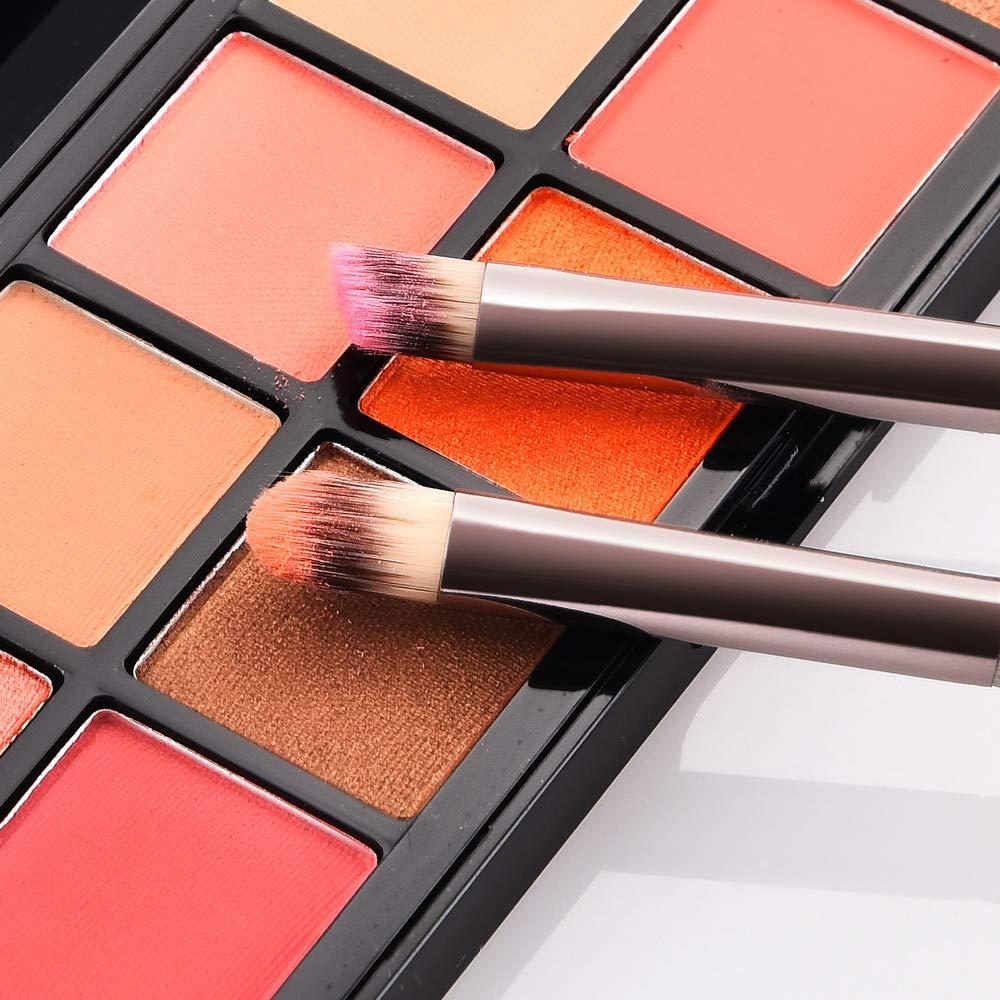 TAOtTAO 2 brochas de Maquillaje para Sombra de Ojos, Doble Punta ...