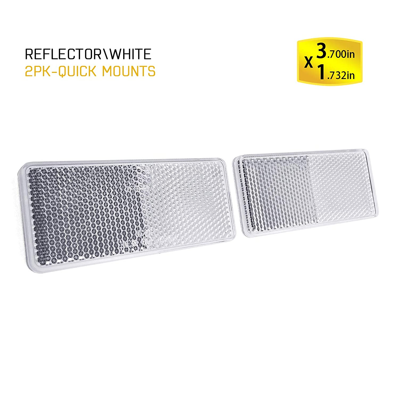 BSK 4 Yellow rectangular Warning stick-on Reflectors(2 Pcs)