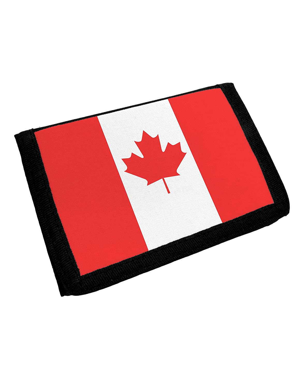 Amazoncom Tooloud Canadian Flag All Over Trifold Wallet All Over