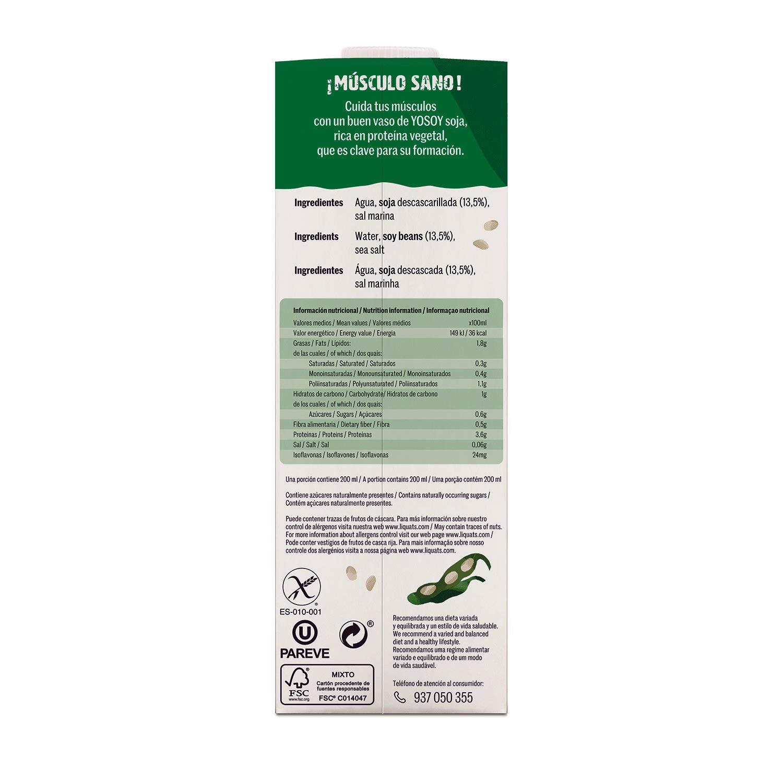 Yosoy Bebida Vegetal de Soja - Paquete de 6 x 1000 ml - Total: 6000 ml: Amazon.es: Alimentación y bebidas