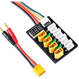 XT60 Parallel Charging Board for 3S 4S LiPo Batteries XT60 Connector with XT60 to Banana Connecting Cable