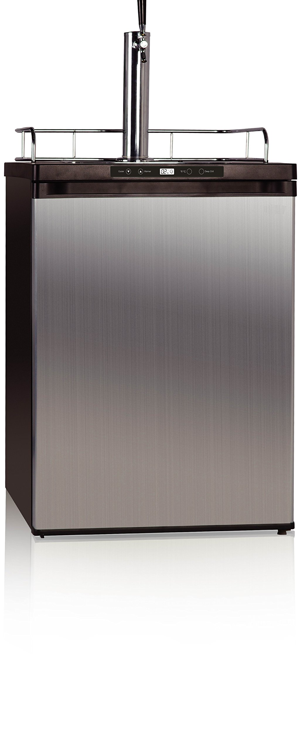 midea HS-209BESS Beer/Beverage Refrigerator and Dispenser, 5.7 Cubic Feet, Stainless Steel by MIDEA