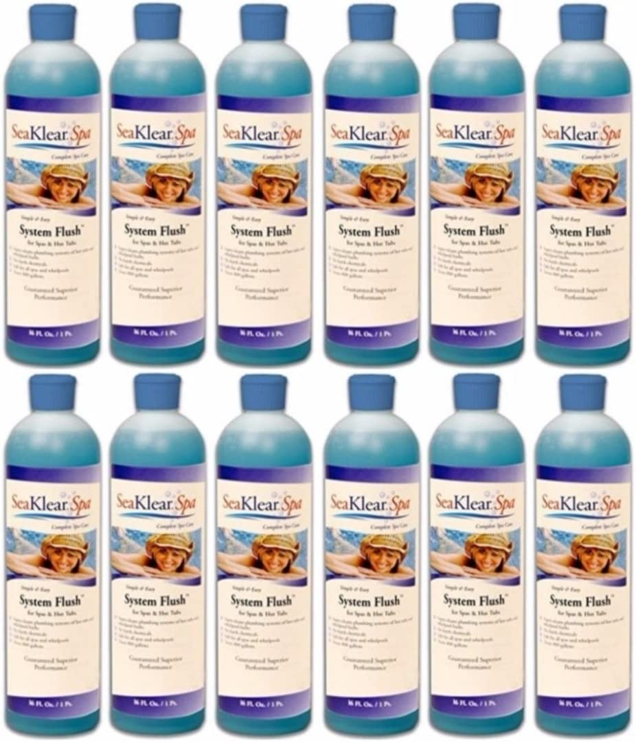 12-Pack Spa System Flush hot tub cleaner - 12 x 16 oz. bottles (192. oz. total) 71L8u9C-nXLSL1500_