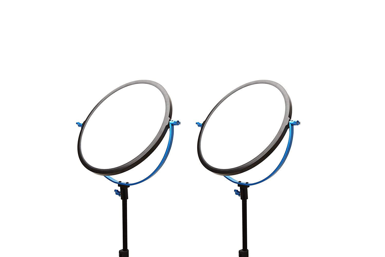 Dracast ソフトレイ SMD LED ラウンド 2ライトキット (デイライト)、ブルー (DRSRR-LK-2X600D)   B06XF2S1GM