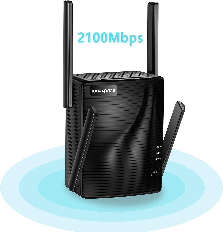 WiFi Extender - WiFi Booster,2100 Mbps,WiFi Range Extender,WiFi Repeater,Wireless Extender for Home,5G&2.4G Dual Band,Gigabit Port&WPS Button,360 Degree Full Coverage