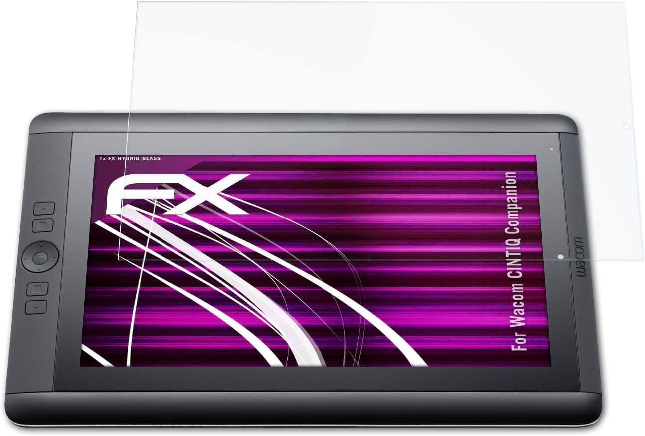 9H Hybrid-Glass FX Schutzpanzer Folie atFolix Glasfolie kompatibel mit Wacom CINTIQ Companion Panzerfolie