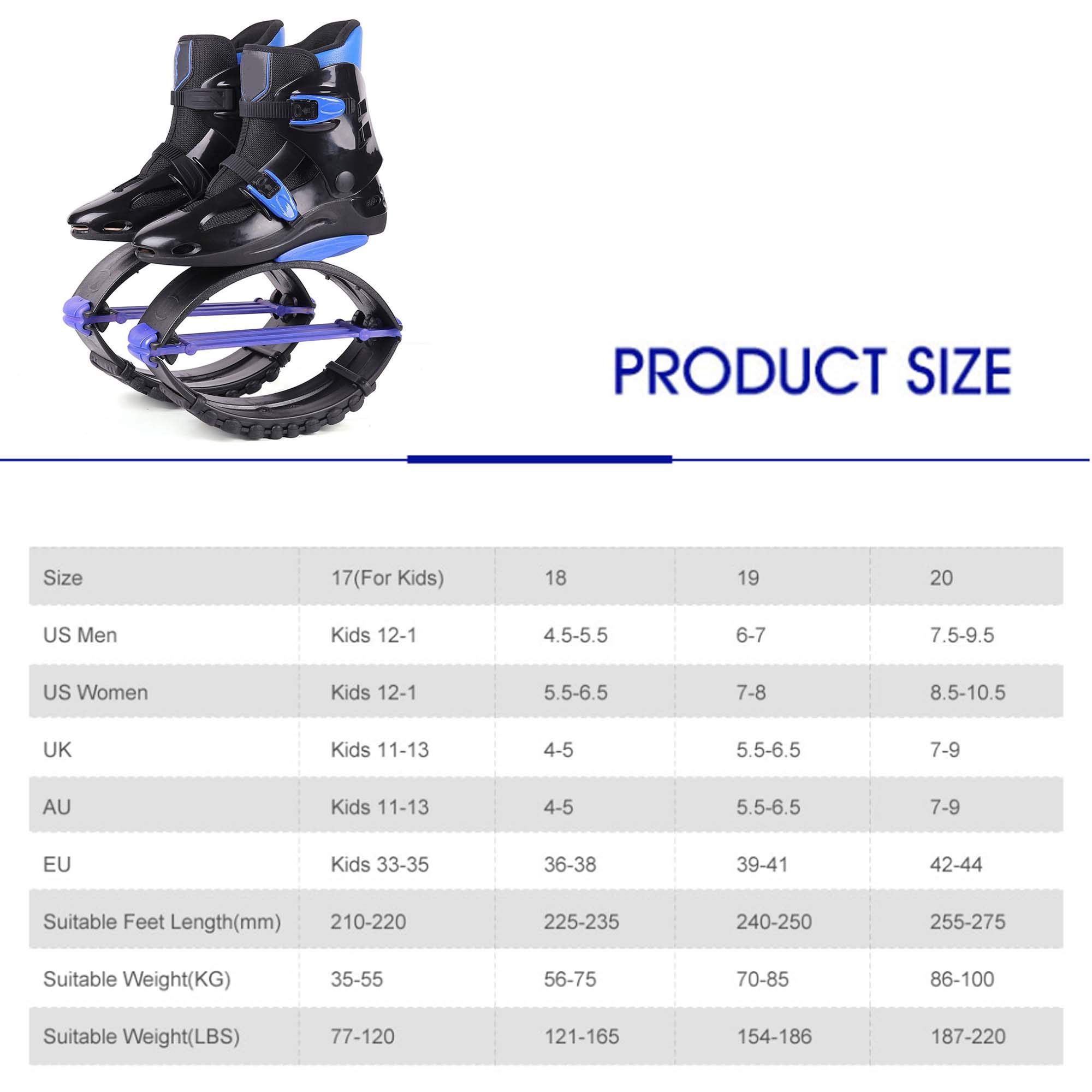 Jump Shoes Bounce Bounce Shoes Fitness Bouncer Suitable for Adult Youth Outdoor Sports,42to44 by H&M Bouncing shoes (Image #7)