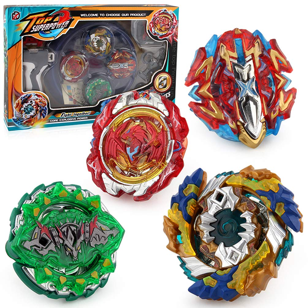 Mudent Battling Top Bay Burst Battle Avatar Attack Battle Set with Two Launcher and Grip Starter Set by SZSHXF